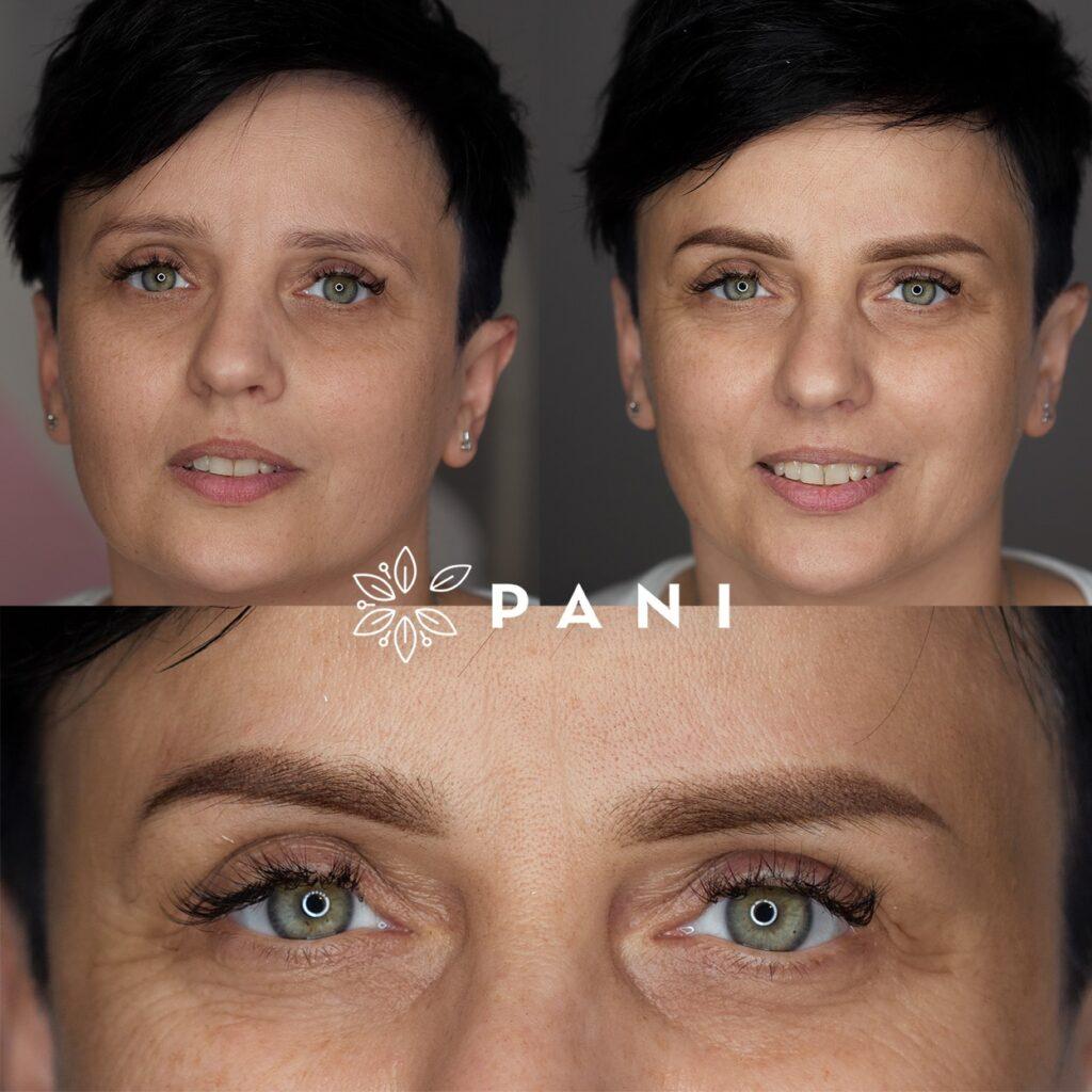 Efekt makijażu permanentnego brwi